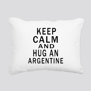 Keep Calm And ARGENTINE Rectangular Canvas Pillow