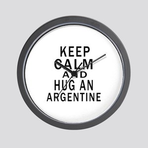 Keep Calm And ARGENTINE or Designs Wall Clock