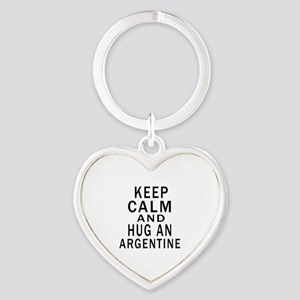 Keep Calm And ARGENTINE or Designs Heart Keychain