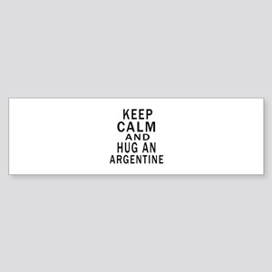 Keep Calm And ARGENTINE or Design Sticker (Bumper)