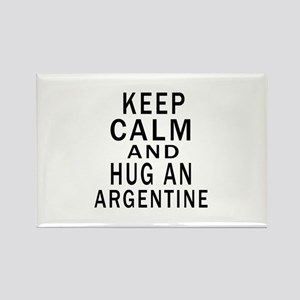 Keep Calm And ARGENTINE or Design Rectangle Magnet