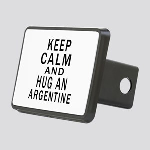 Keep Calm And ARGENTINE or Rectangular Hitch Cover