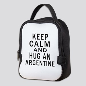 Keep Calm And ARGENTINE or Desi Neoprene Lunch Bag