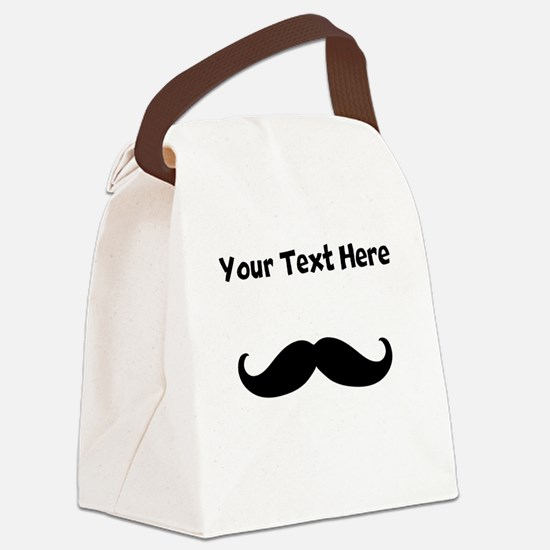 Custom Mustache Canvas Lunch Bag