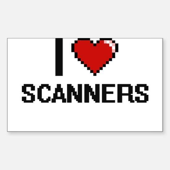 I Love Scanners Digital Design Decal