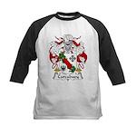 Carcabuey Family Crest Kids Baseball Jersey