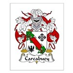 Carcabuey Family Crest Small Poster