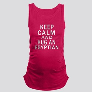 Keep Calm And Egyptian Designs Maternity Tank Top