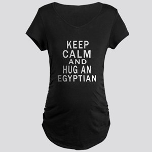 Keep Calm And Egyptian Desi Maternity Dark T-Shirt