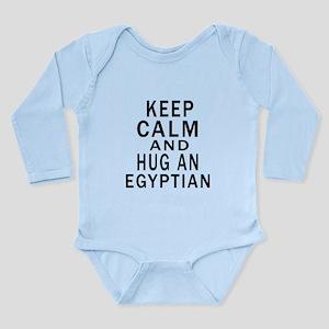 Keep Calm And Egyptian Long Sleeve Infant Bodysuit