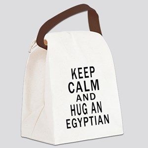 Keep Calm And Egyptian Designs Canvas Lunch Bag