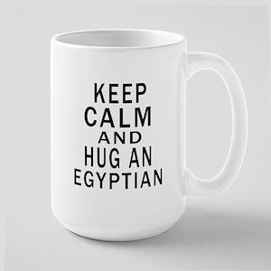 Keep Calm And Egyptian Designs Large Mug