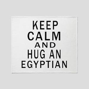 Keep Calm And Egyptian Designs Throw Blanket