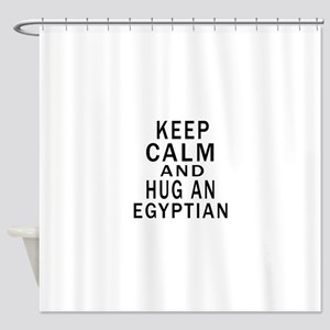 Keep Calm And Egyptian Designs Shower Curtain