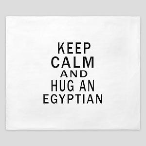 Keep Calm And Egyptian Designs King Duvet