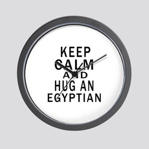 Keep Calm And Egyptian Designs Wall Clock