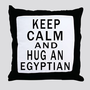 Keep Calm And Egyptian Designs Throw Pillow