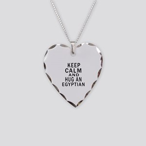 Keep Calm And Egyptian Design Necklace Heart Charm