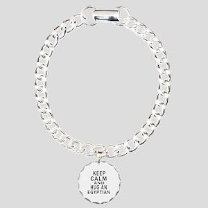 Keep Calm And Egyptian D Charm Bracelet, One Charm