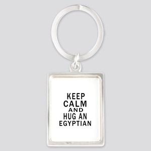 Keep Calm And Egyptian Designs Portrait Keychain