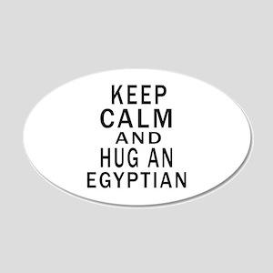 Keep Calm And Egyptian Desig 20x12 Oval Wall Decal