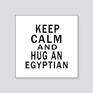 """Keep Calm And Egyptian Desi Square Sticker 3"""" x 3"""""""