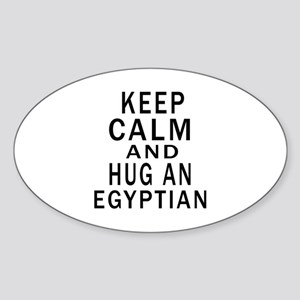 Keep Calm And Egyptian Designs Sticker (Oval)