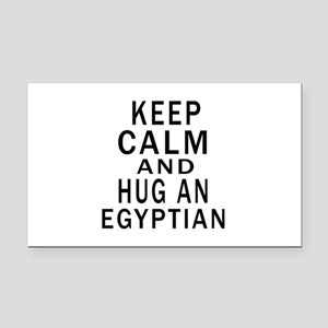 Keep Calm And Egyptian Design Rectangle Car Magnet