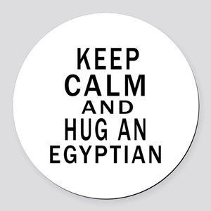 Keep Calm And Egyptian Designs Round Car Magnet