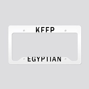 Keep Calm And Egyptian Design License Plate Holder