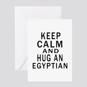 Keep Calm And Egyptian Designs Greeting Card