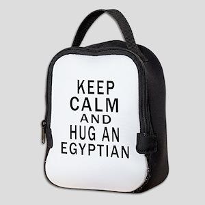Keep Calm And Egyptian Designs Neoprene Lunch Bag
