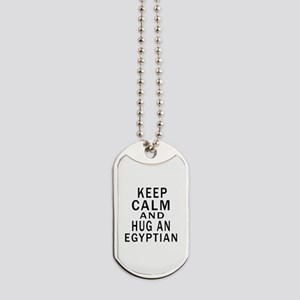 Keep Calm And Egyptian Designs Dog Tags