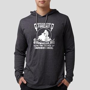 Weekend Forecast Snowmobiling Long Sleeve T-Shirt