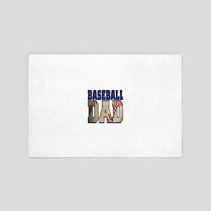 baseball dad 4' x 6' Rug
