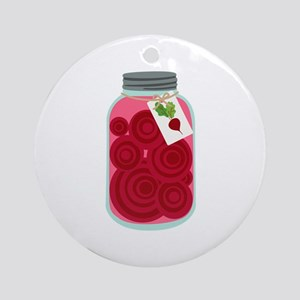 Pickled Beets Round Ornament