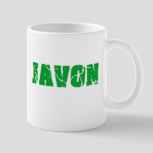 Javon Name Weathered Green Design Mugs