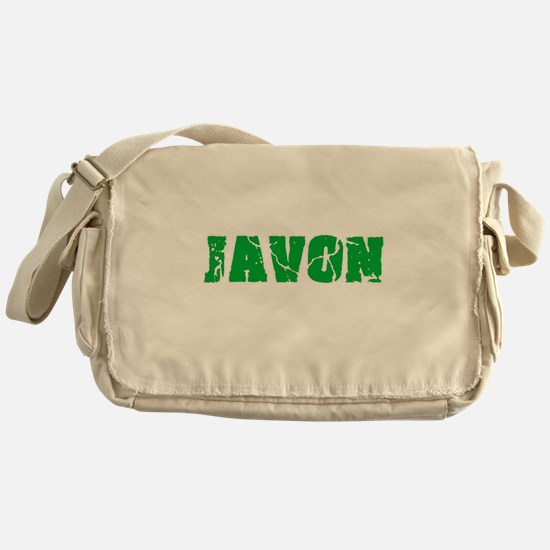 Javon Name Weathered Green Design Messenger Bag