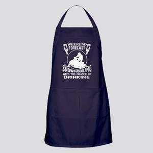 Weekend Forecast Snowmobiling T Shirt Apron (dark)