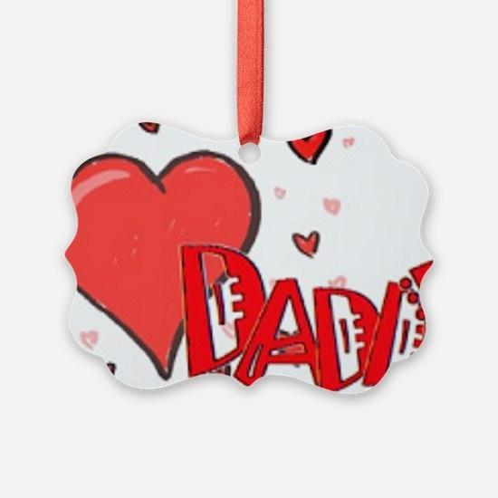 I heart Daddy Ornament