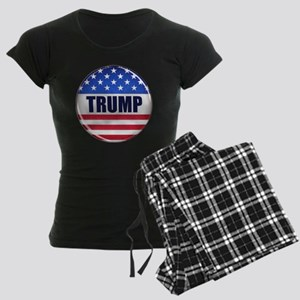 Vote Trump button Women's Dark Pajamas