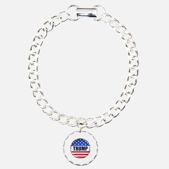 Vote Trump button Charm Bracelet, One Charm