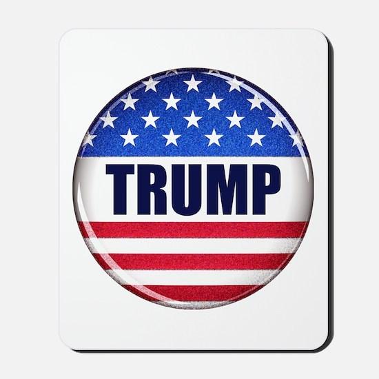 Vote Trump button Mousepad