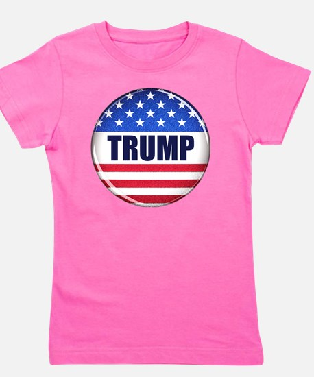 Vote Trump button Girl's Tee