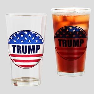 Vote Trump button Drinking Glass