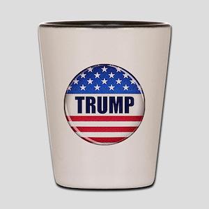 Vote Trump button Shot Glass