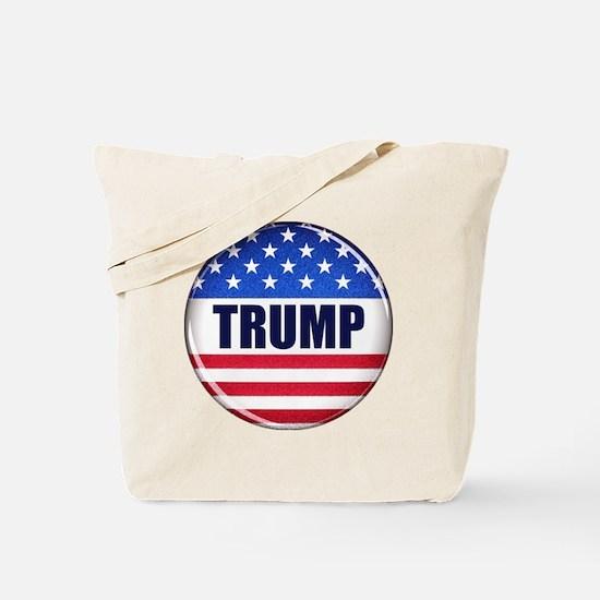 Vote Trump button Tote Bag