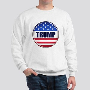 Vote Trump button Sweatshirt