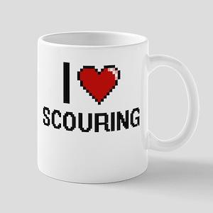 I Love Scouring Digital Design Mugs
