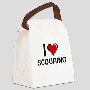 I Love Scouring Digital Design Canvas Lunch Bag